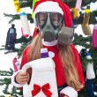 Toxic christmas - environmental concept — Stock Photo