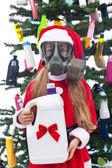 Toxic christmas - environmental concept — Stock Photo