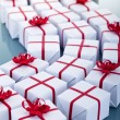 Lots of christmas presents — Stock Photo