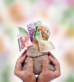 Praising money — Stock Photo