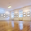 Art gallery with blank pictures — Stock Photo #6408798
