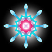 Multicolored decorative snowflake — Stockvektor