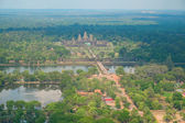 Aerial view of Angkor Wat Temple — Stock Photo