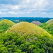 Famous Chocolate Hills natural landmark in Philippines — Stock Photo #43908043
