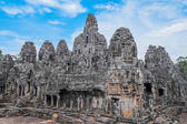 Bayon Temple with stone heads — Stock Photo