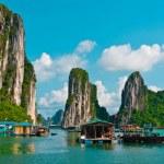 Floating fishing village — Stock Photo #9663442