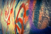 Colored written on the wall — Stock Photo