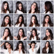 Stock Photo: Girl expressions