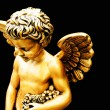 Stock Photo: Little golden cherub
