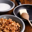 Crunchy  walnuts  ingredients — Stock Photo
