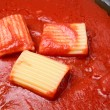 Stock Photo: Italian pasta with tomato sauce