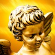 Foto Stock: Golden cherub