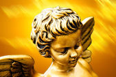 Golden cherub — Stock Photo