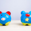 Piggy bank front and rear — Stock Photo #20004111