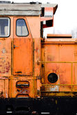 Orange locomotive — Stock Photo