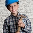 Mason apprentice — Stock Photo