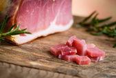 Italian prosciutto - italian raw ham — Stock Photo