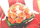 Wedding orange bouquet — Stock Photo
