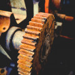 Stock Photo: Rusted gears