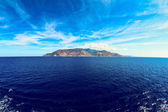 Elba island Tuscan Archipelago from the ship — Stock Photo