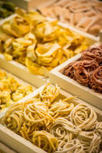 Variety frozen italian pasta — Stock Photo