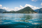 Mount Isola Island, Iseo lake, Brescia, Lombardy, italy — Stock Photo