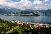 Mount Isola Island, Iseo lake, Brescia, Lombardy, italy — Foto Stock