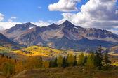 Rocky mountain peaks — Stock Photo