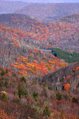 Scenic autumn valley — Foto Stock