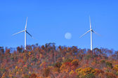 Wind mills on the hill — Stock Photo