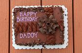 Daddy's birth day cake — Stock Photo