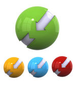 3D spherical designs — Stock Photo