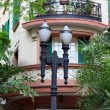 Old home and lamp post — Stock Photo