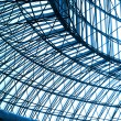 Royalty-Free Stock Photo: Glass roof in blue