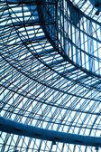 Skleněná střecha v modrém — Stock fotografie