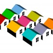 Colorful homes — Stock Photo