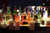 Different liquor bottles — Stock Photo