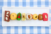 Plate of sweets — Stock Photo