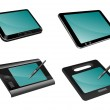 Different tablets — Stock Photo