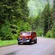 Glacier national park bus tour — Stockfoto