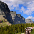 Peaks in Glacier national park — Stock Photo