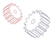 Two spur gears — Stock Photo