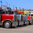Stock Photo: Semi Trailer trucks