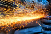 Hand grinding — Stock Photo