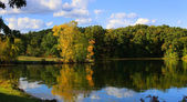 Autumn panoramic landscape — Stock Photo