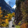 Winding scenic byway in Colorado — Stock Photo