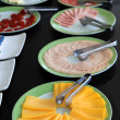 Breakfast arrangement — Stock Photo