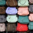 Colorful hand bags — Stock Photo