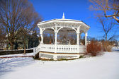 Gazebo in Snow — Stock Photo