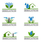 Irrigation icons — Stock Photo